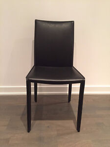 Chic black dining chair