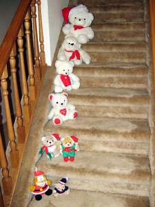 Cute, Cuddly, Almost new Christmas Teddys