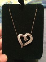 White gold heart necklace OR BEST OFFER