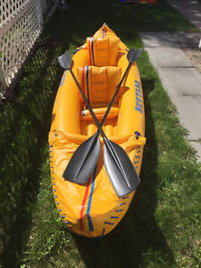 2 Person Inflatable Canoe/Kayak ready for a River or Lake