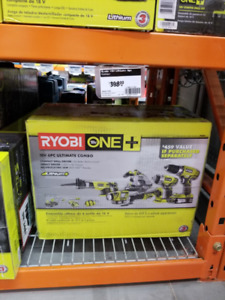 **New Ryobi 18v 6pc tool set (tools only with one battery)