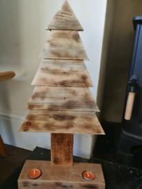 Mini Xmas tree with tea light holders