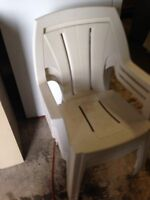 4 White Sturdy Patio Chairs for SALe