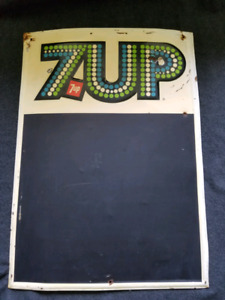 7up Metal Chalkboard Sign