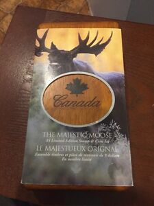 The majestic moose stamp and coin set