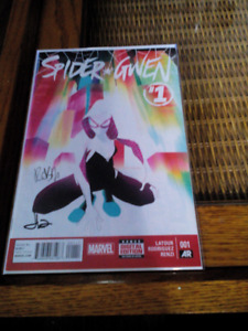 Spidergwen #1 signed with a  coa