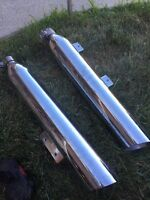 Set of stock victory exhaust pipes $50