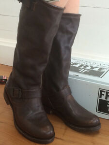 FRYE Veronica Slouch designer leather boots new
