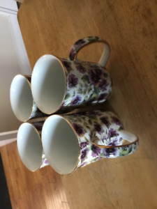 Tea cups- Purpie Pansy by Allison