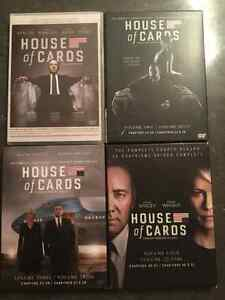 Série dvd house of cards 1-2-3-4- Saguenay Saguenay-Lac-Saint-Jean image 1
