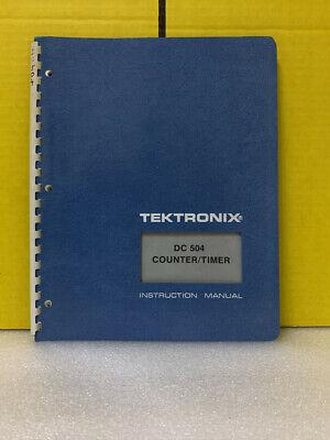 Tektronix Dc 504 Countertimer Instruction Manual