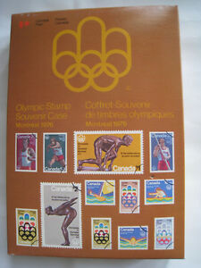 1976 Montreal Olympic Stamp Souvenir Case   x5