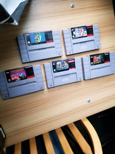 Snes super nintendo games sale or trade