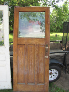 "Old Entry Door 34"" Solid Wood"