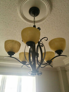 Burnished Brown  Chandelier Brawn New .