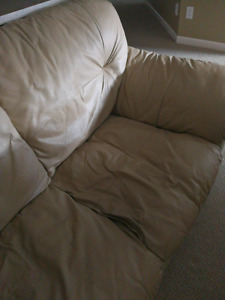 Reduced Price Real Leather Couch
