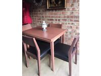 DINNING TABLE + 4 CHAIRS FREE DELIVERY EXTENDABLE TABLE