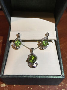 Peridot Necklace and Earrings from Mappins