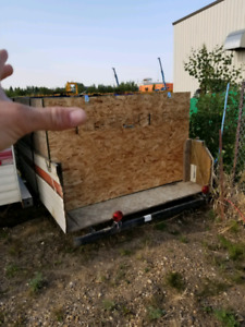 Converted inclosed utility trailer