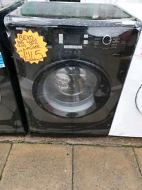 Black beko 8kg load washing machine