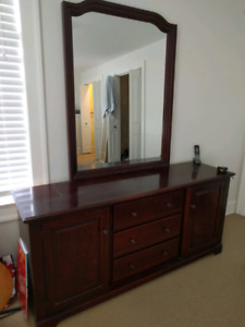 Solid cherry dresser - moving sale