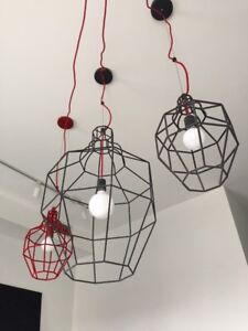 Crate & Barrel Chandeliers by Paola Navone – Set of 3!
