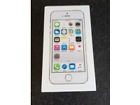 Apple iPhone 5s 16gb silver and white brand new on O2 network