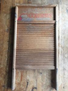 Planche à laver en bois- Antiquité