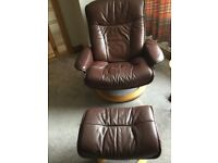 Stressless reclining chair and stool