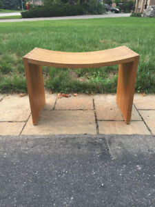 Curved Wooden Bench/Stool/Table