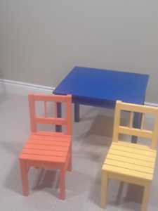"Kids Ikea  ""Svala"" wooden Table and Chair Set"