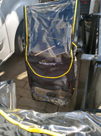 Mobility scooter folding canopy