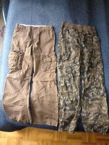 Cargo and camouflage pants