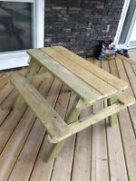 Child sized picnic table