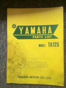 1973 Yamaha TA125 Production Racer Parts List