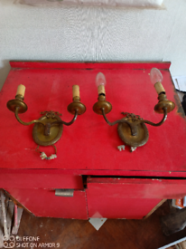 Vintage wall lights solid brass