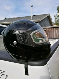 Conditionally sold-Medium 3 in one helmet with mic and headphone