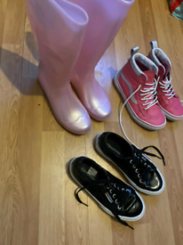 Girls trainers and wellies (FREE)
