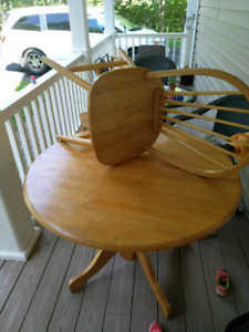 Table and 4 chairs 50$ firm for everything