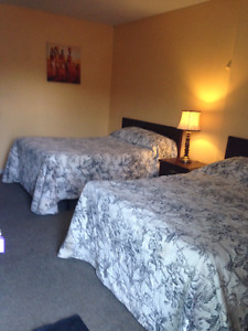 Fully furnished, utilities included,2 double beds