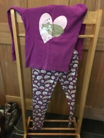 Girls fox pyjama set age 9-10
