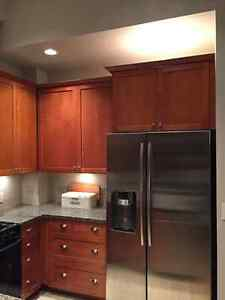 Kitchen cabinets and stove with microwave North Shore Greater Vancouver Area image 3