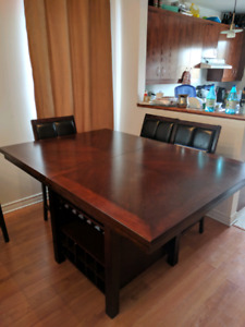 Counter height table, leaf extension, $650 or best offer