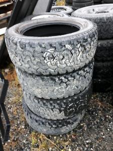 4 pneus hiver Bfgoodrich All Terrain LT285/55R20