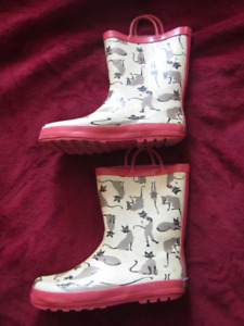 Gymboree rainboots, kids shoes size 4, used, as is