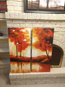 Two canvas paintings