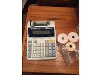 Electronic calculator printer