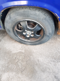 Vw t4 alloy wheels with good tyres £100 for sale  Wells, Somerset