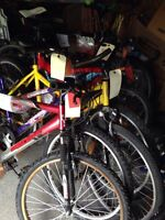 "6x 26"" & 1x 24"" bicycles & 2 frames lot $50 for all"