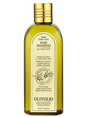 Mildes Olivenöl (100% Bio Olivenöl mildes Shampoo 0% Mineralöl Parabene Biotin Aloe Vera Rosmarin)